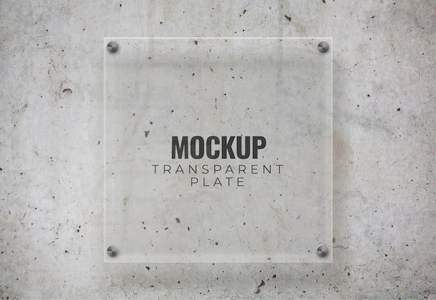 Transparent plate mockup