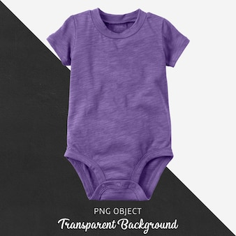 Transparent purple bodysuit for baby or children