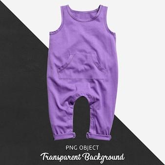 Прозрачный фиолетовый комбинезон для ребенка или детей Premium Psd