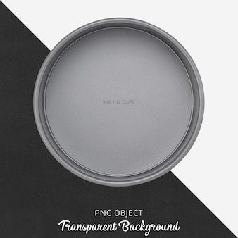 Transparent round gray cake mold
