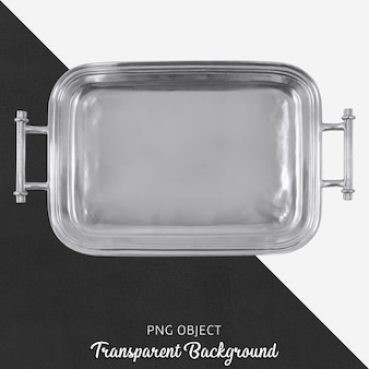 Transparent silver tray