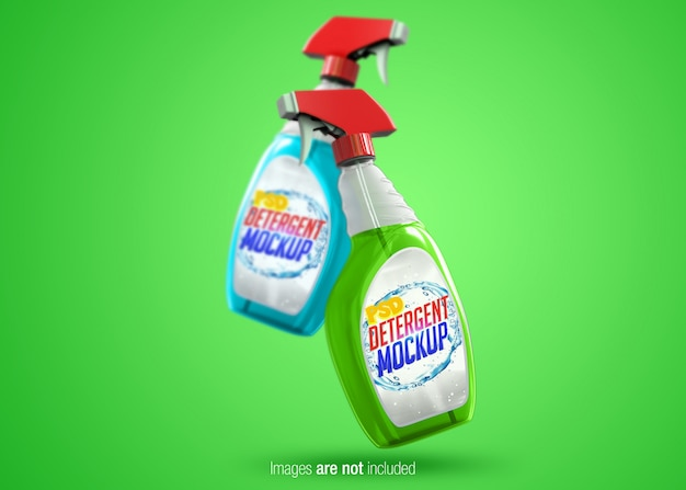 Transparent spray psd mock-up