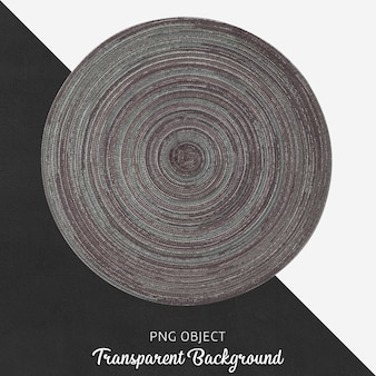 Transparent wicker and gray round service