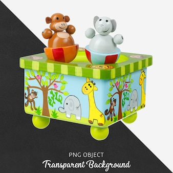 Transparent wooden animal toy