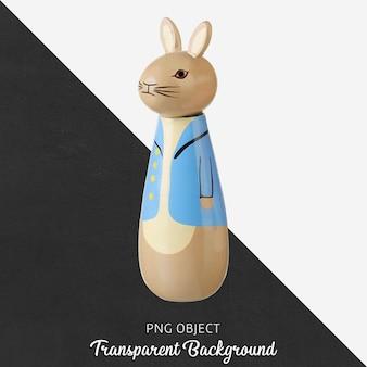 Transparent wooden rabbit toy