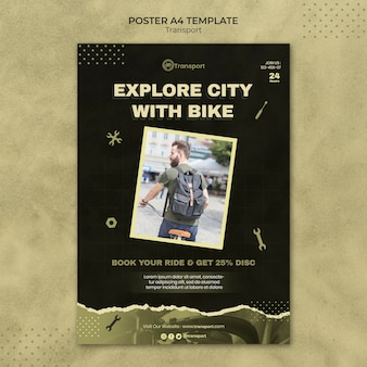 교통 포스터 템플릿 디자인