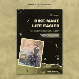 Transport poster template design