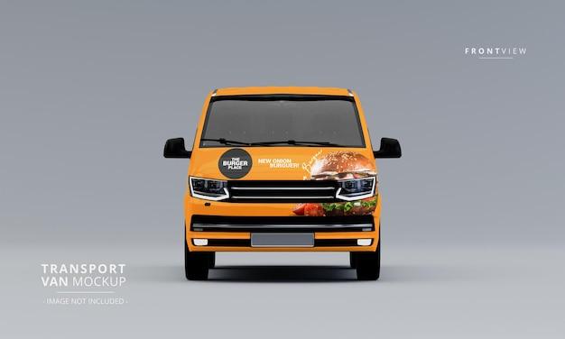 Transport van car mock up front view
