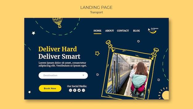 Transportation service landing page