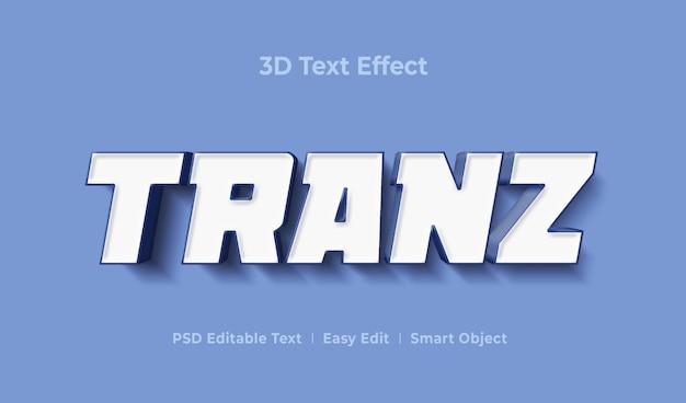Шаблон эффекта стиля 3d-текста tranz