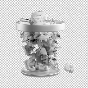 Trash bin 3d illustration