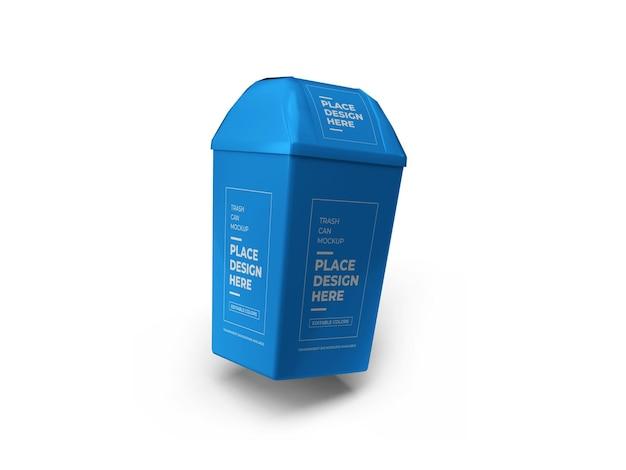 Trash can mockup design in 3d rendering