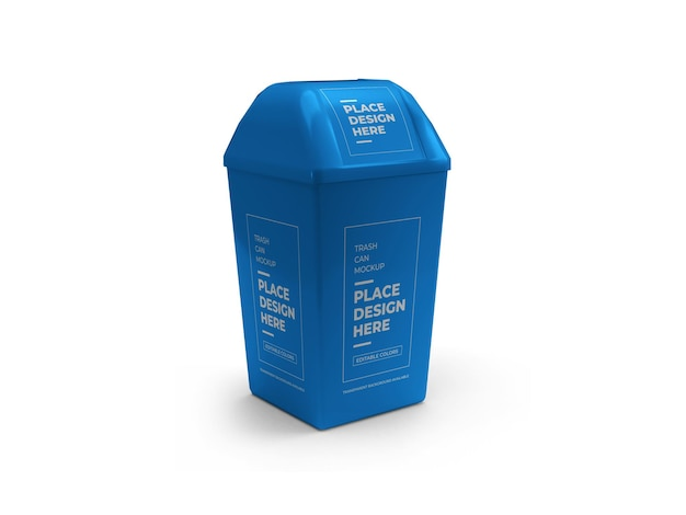 Trash can mockup design isolated