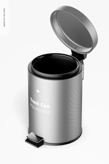 Trash can with foot pedal mockup