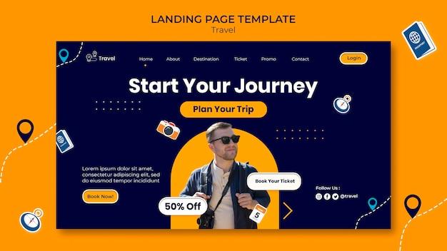 Modello di pagina di destinazione dell'avventura di viaggio