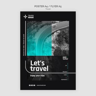 여행 모험 포스터 템플릿