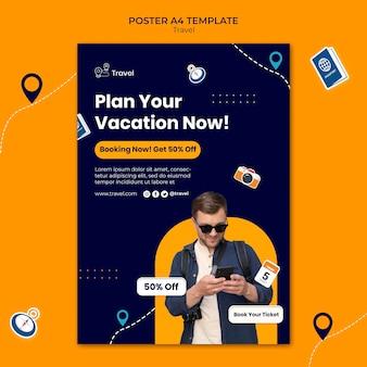 Poster di avventura di viaggio con sconto