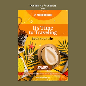 Travel agency ad template poster