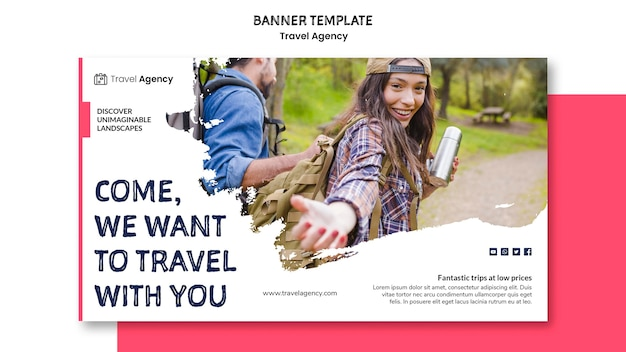 Travel agency banner style