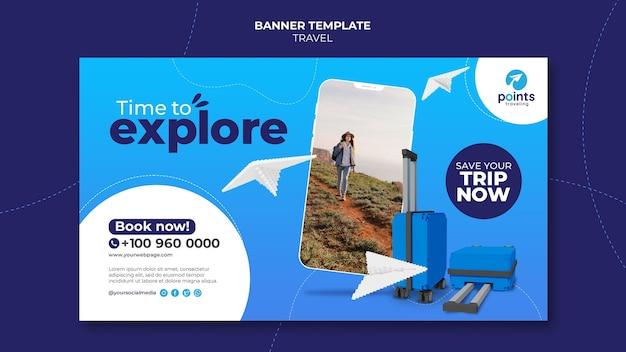 Modello di banner per agenzia di viaggi