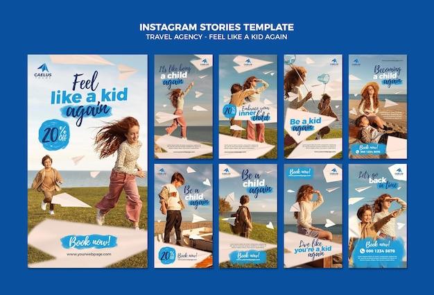 Travel agency instagram stories template