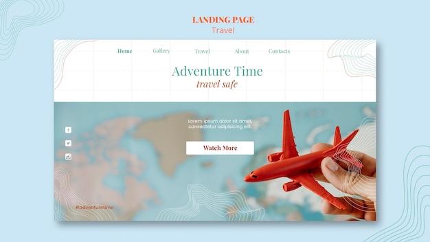 Шаблон целевой страницы туристического агентства