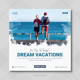 Сообщение туристического агентства в социальных сетях или сообщение в instagram