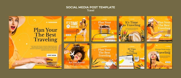 Travel agency social media post template