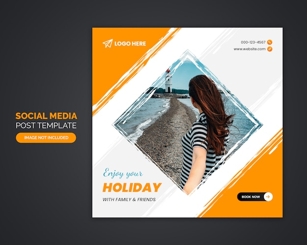 게시물 템플릿-여행사 소셜 미디어