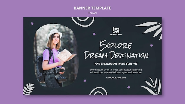 Travel agency template banner
