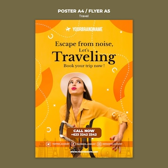 Travel agency template flyer