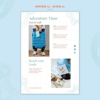 Travel agency template poster