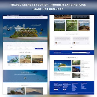 Travel agency website landing page template