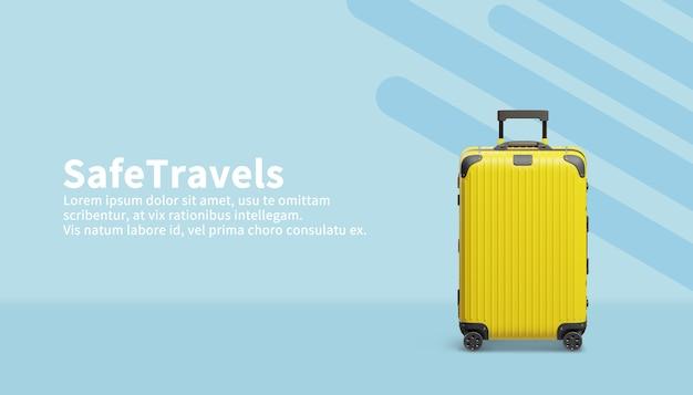 Дорожные сумки в 3d визуализации иллюстрации