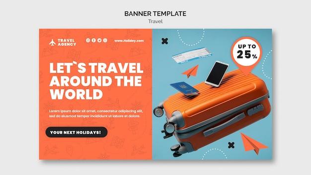 Шаблон оформления туристического баннера