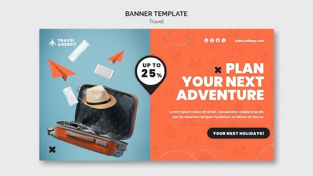Modello di progettazione banner di viaggio
