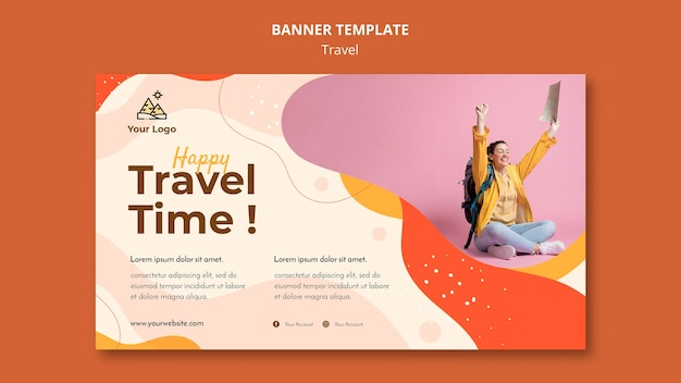 Travel banner template design