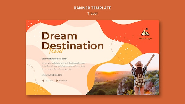 Travel banner template theme