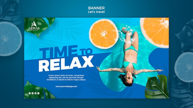 Travel concept banner template