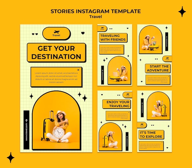 Travel concept instagram stories