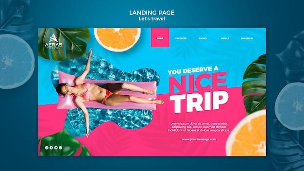 旅行コンセプトランディングページテンプレート