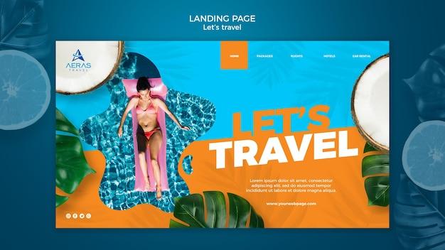 Шаблон целевой страницы концепции путешествия