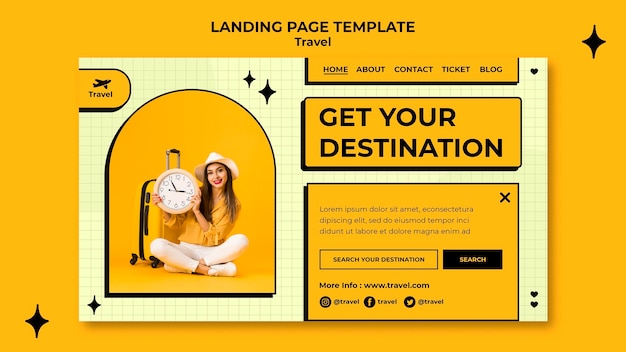 Travel concept landing page template