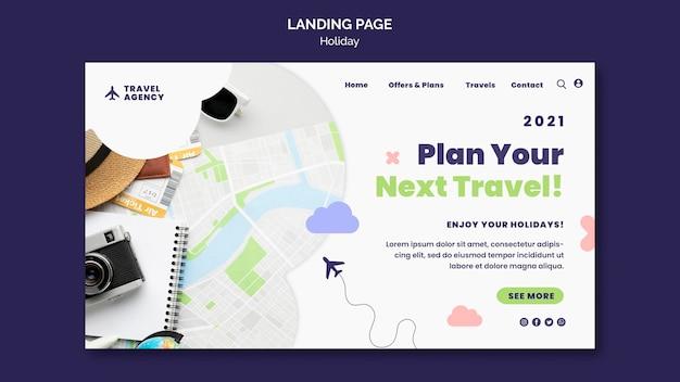 여행 컨셉 랜딩 페이지 프리미엄 PSD 파일