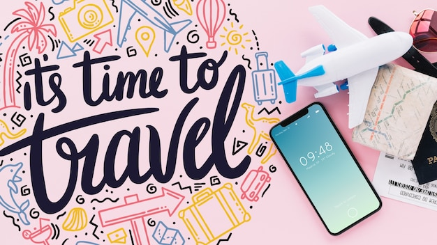 Travel concept with smartphone
