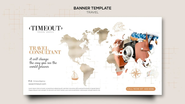 Travel consultant banner template