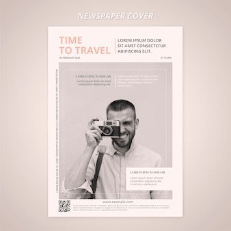 Travel cover newspaper template