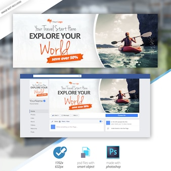 Travel facebook timeline cover banner