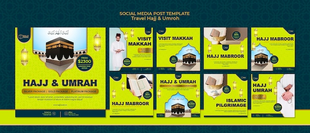 Travel hajj and umrah instagram posts