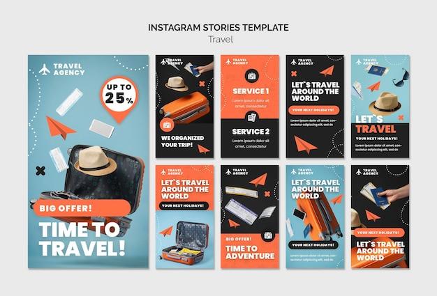 Travel insta story design template